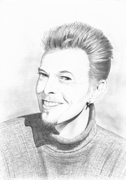 Singer songwriter David Bowie.